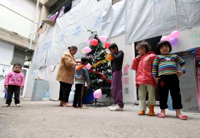 Displaced Iraqi Christian children