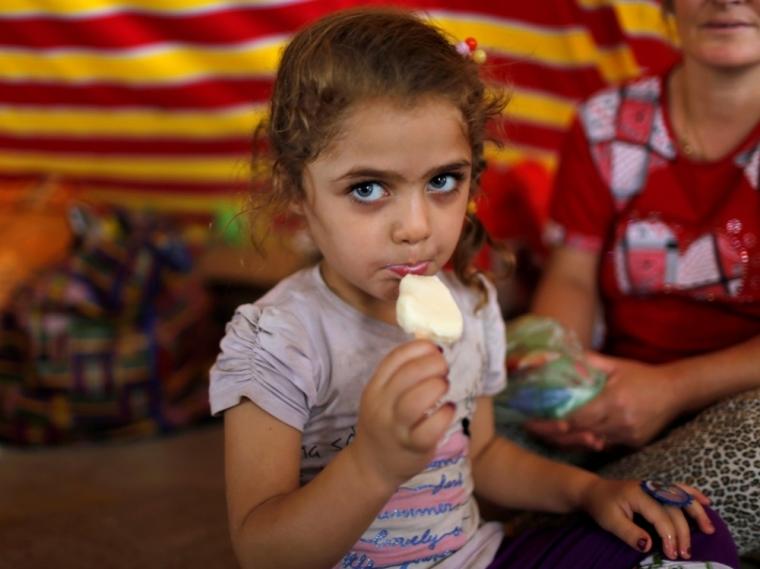 Displaced Iraqi Christian girl