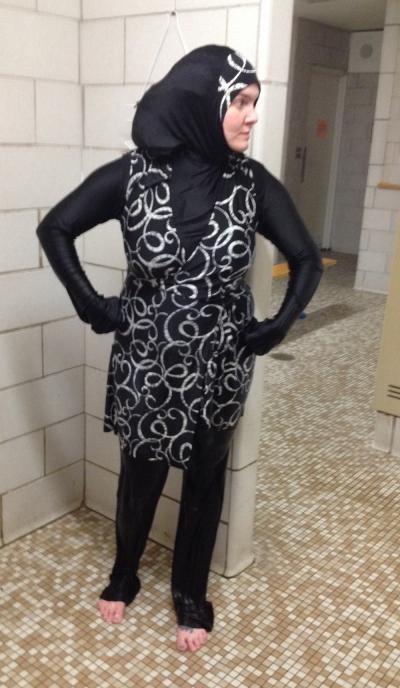 Jessey Eagan Wearing Muslim Burkini