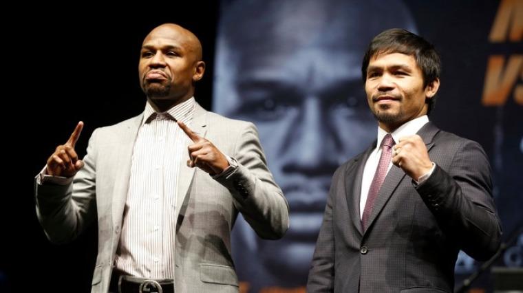 Floyd Mayweathe Jr. and Manny Pacquiao