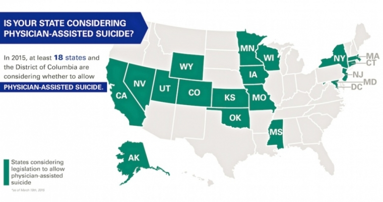 States Considering Physician Assisted Suicide