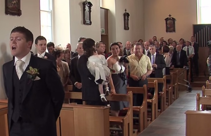 Watch What This Groom Does While His Bride Walks Down The