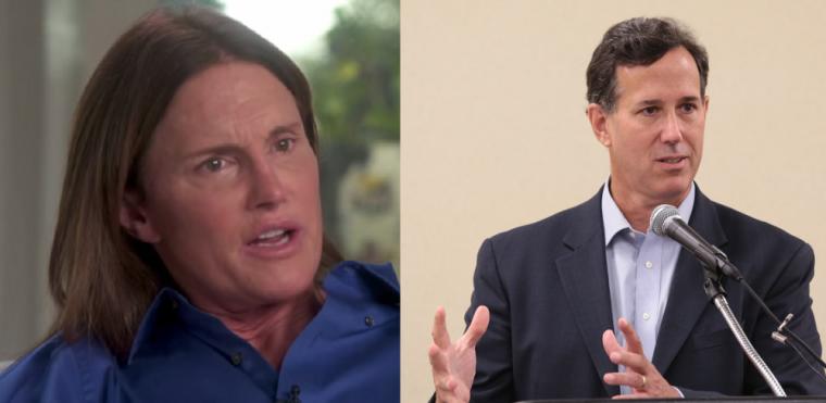 Bruce Jenner, Rick Santorum