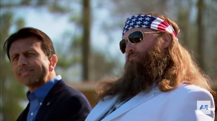 Bobby Jindal and Willie Robertson
