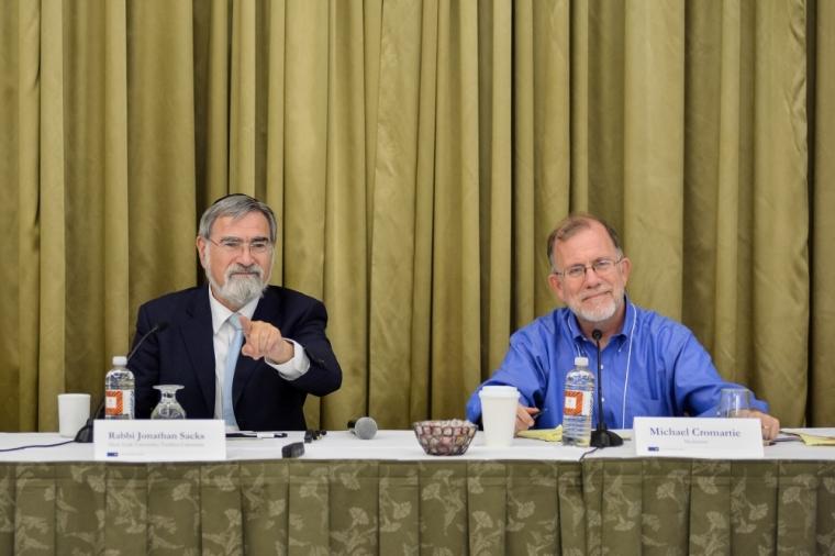 Rabbi Jonathan Sacks and Michael Cromartie