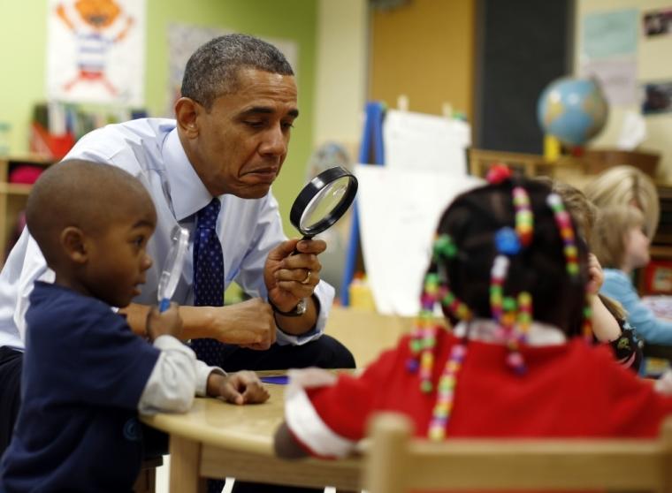 Obama school children