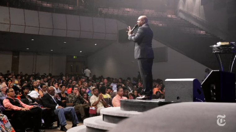 Pastor Chris Hill of The Potter's House of Denver in Colorado
