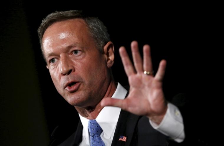U.S. Democratic presidential candidate Martin O'Malley