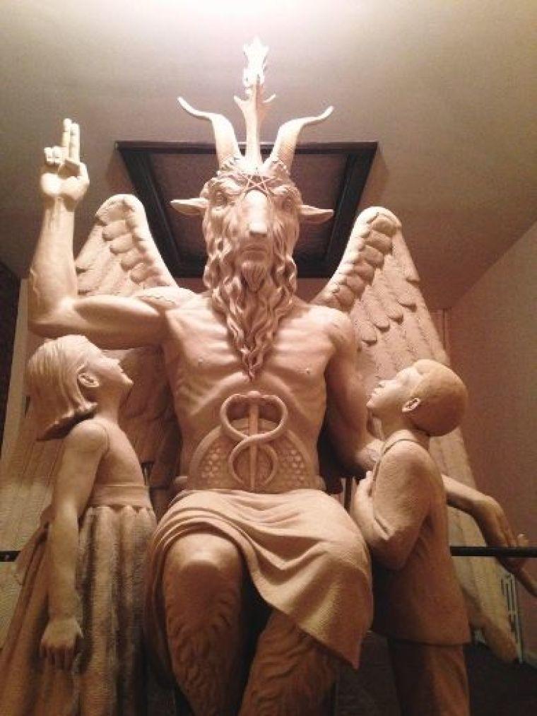 Satanic Temple statue