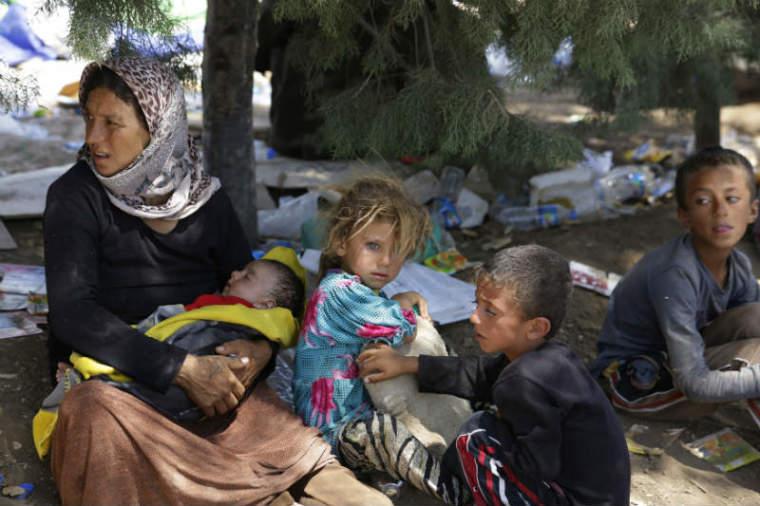 Displaced Yazidi Family Iraq