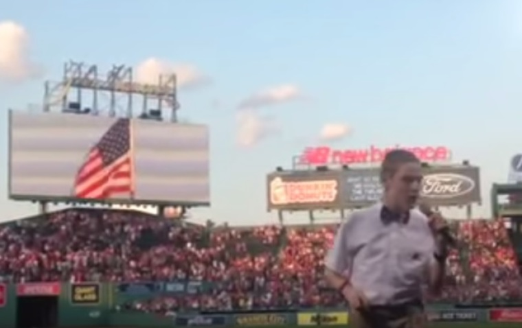 Christopher Duffley at the Boston Red Sox 2015