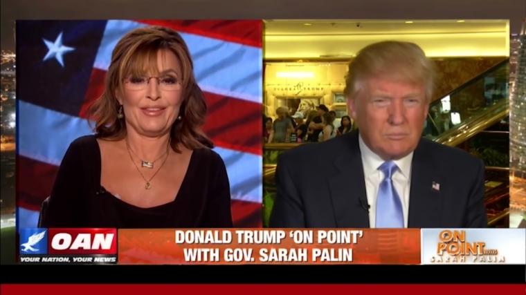 Saran Palin and Donald Trump