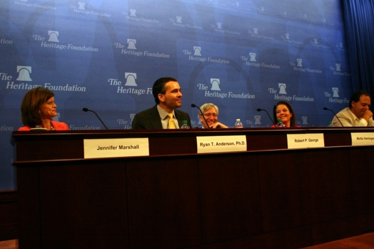 Heritage Foundation panel with Ryan Anderson