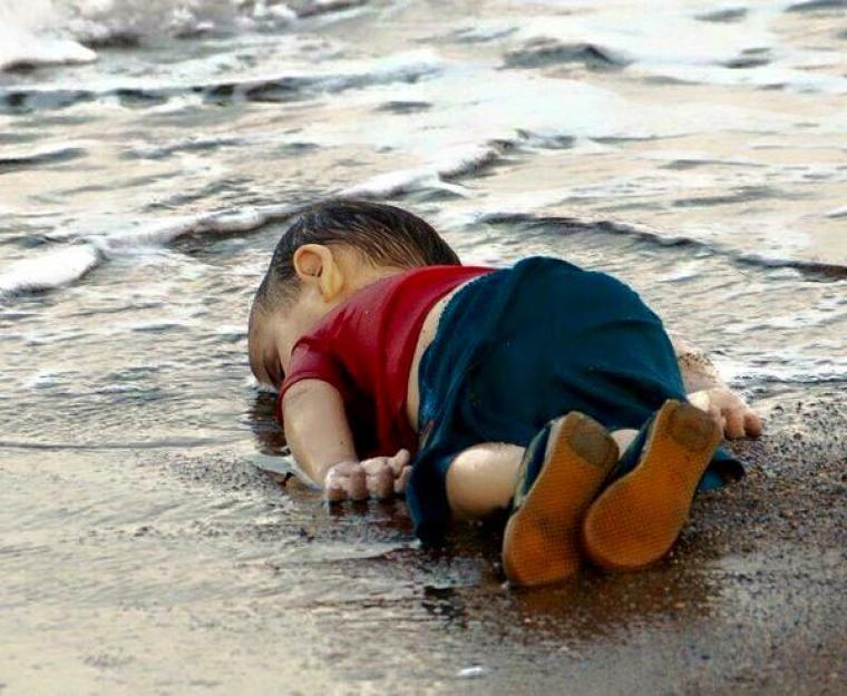 Three-year-old drowned Syrian Boy