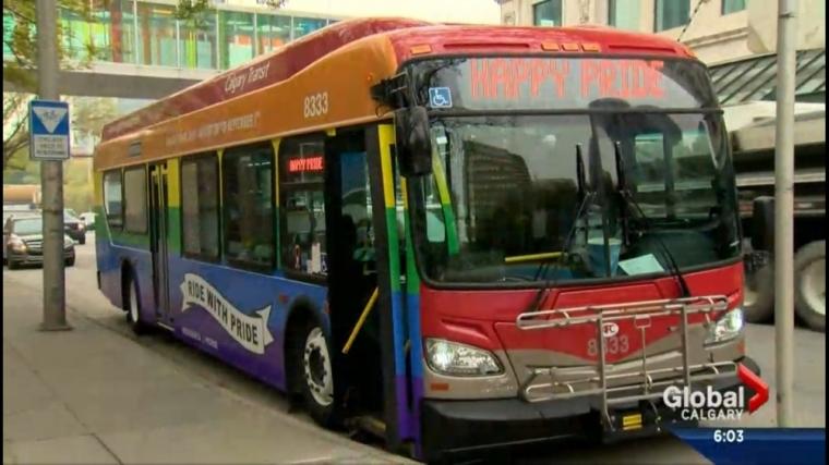 calgary Pride Bus