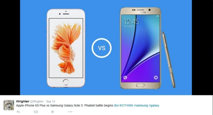 iPhone 6s Vs Galaxy Note 5 Specs Review: Battle of the