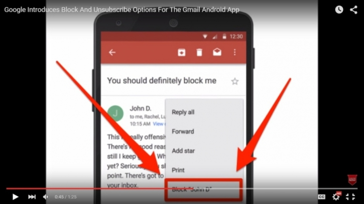 Google launches 'block sender' and 'unsubscribe' options for