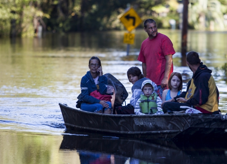 floodwaters in South Carolina