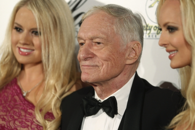Playboy magazine founder Hugh Hefner