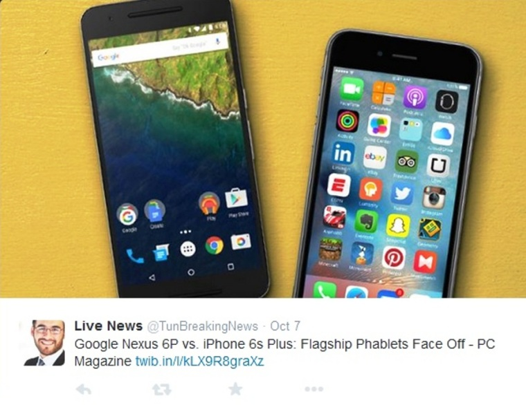 Google Nexus 6P vs iPhone 6s Plus
