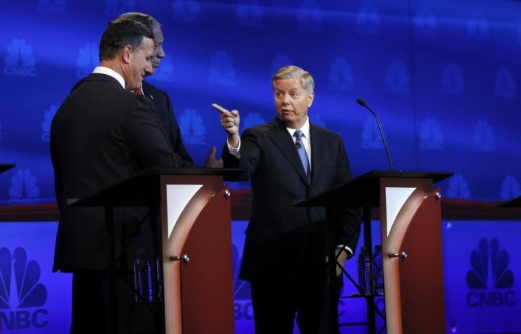 Republican U.S. presidential candidate Rep. Lindsey Graham