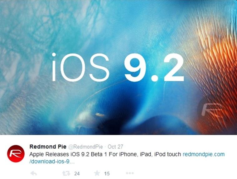 Apple iOS 9.2 Beta