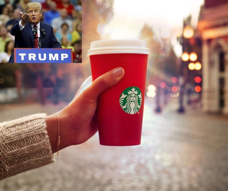Donald Trump, Starbucks, Red Cup