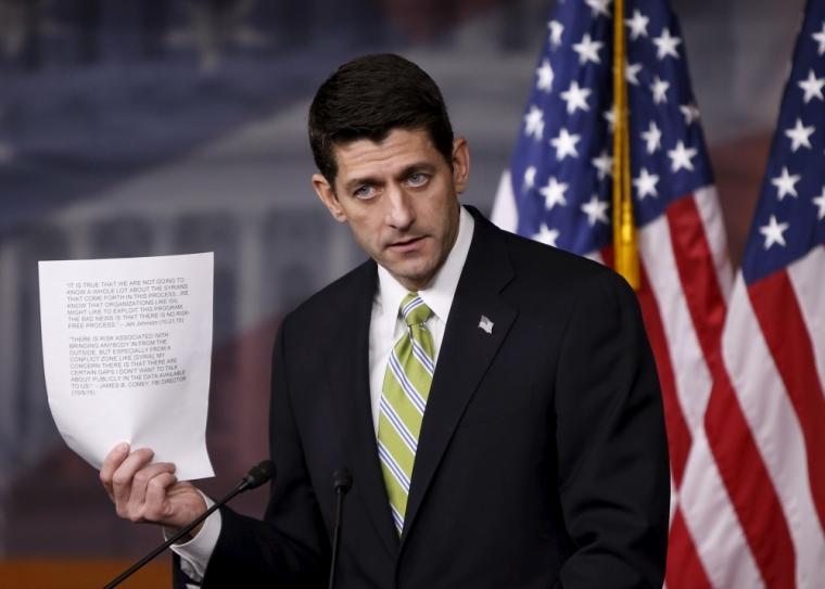 U.S. Speaker of the House Paul Ryan