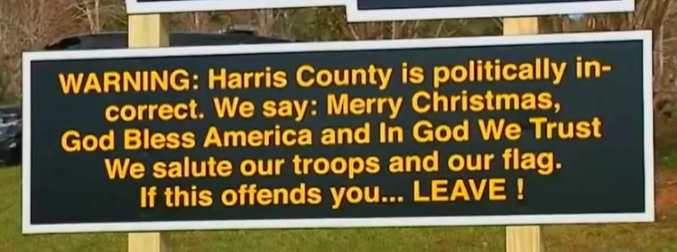 Harris County Sign