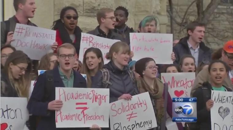 Wheaton College Students Protest