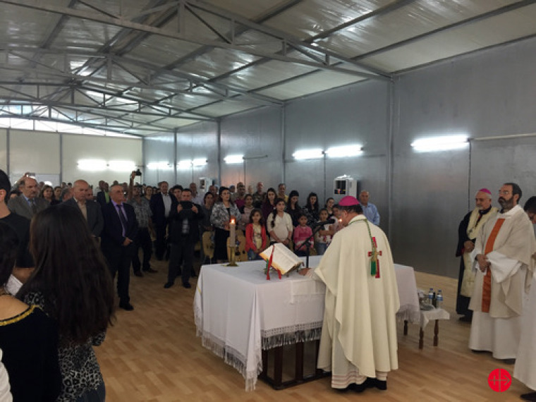 chapel in Baghdad's Virgin Mary refugee camp