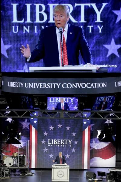 Donald Trump, Liberty University