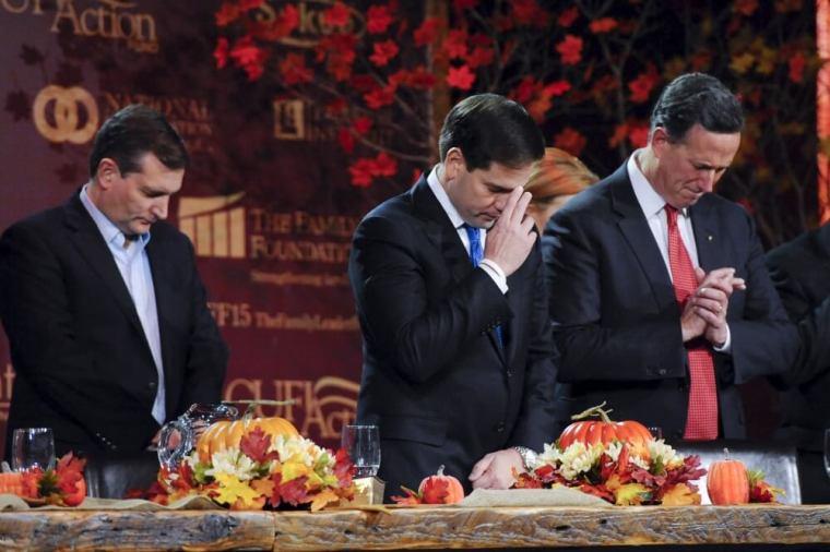Ted Cruz, Marco Rubio, and Rick Santorum