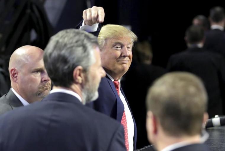 Donald Trump, Liberty University President Jerry Falwell