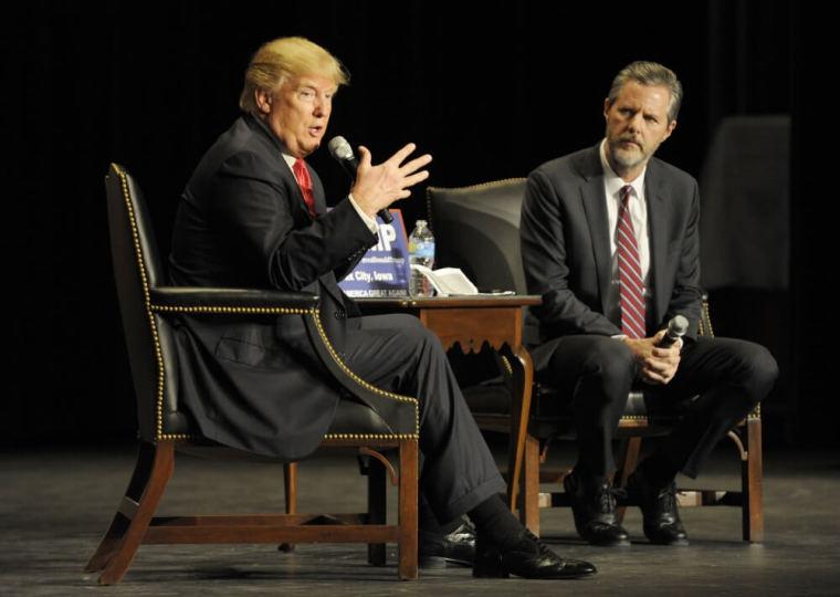 Donald Trump and Jerry Falwell Jr.