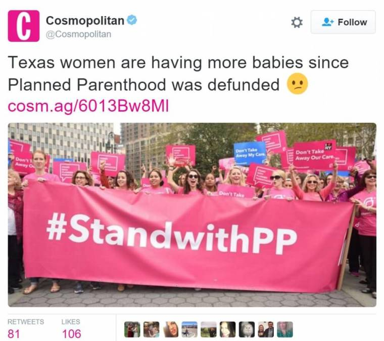 Tweet from Cosmopolitan