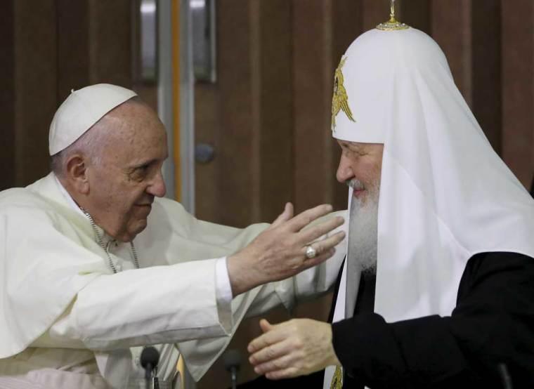 Pope Francis Russian Orthodox Patriarch Kirill