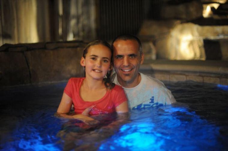 Jessie Rees after baptism
