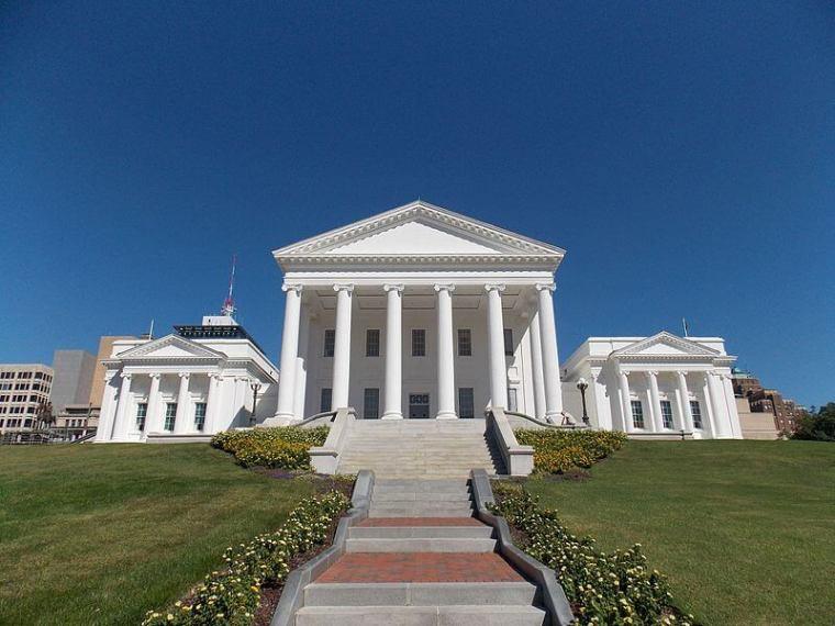 Virginia State House in Richmond, Virginia