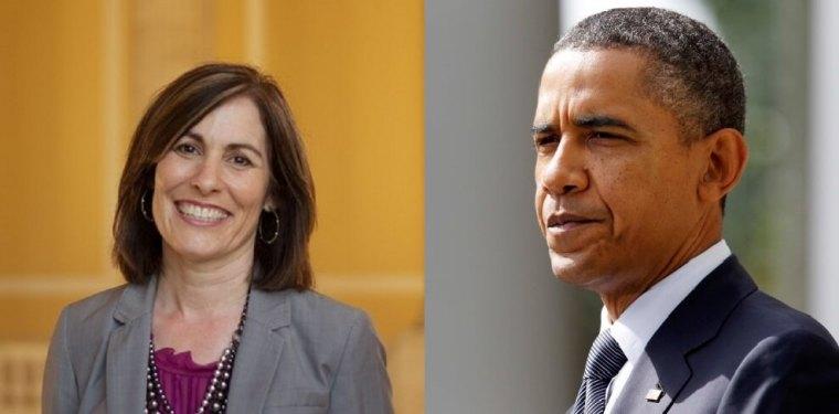 Valerie Huber, President Barack Obama