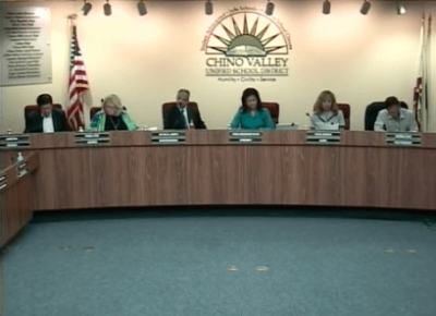 Members of the Chino Valley Unified School District school board
