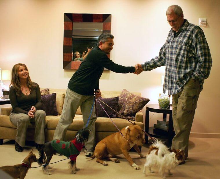Phil Jackson, 'Dog Whisperer' Cesar Millan