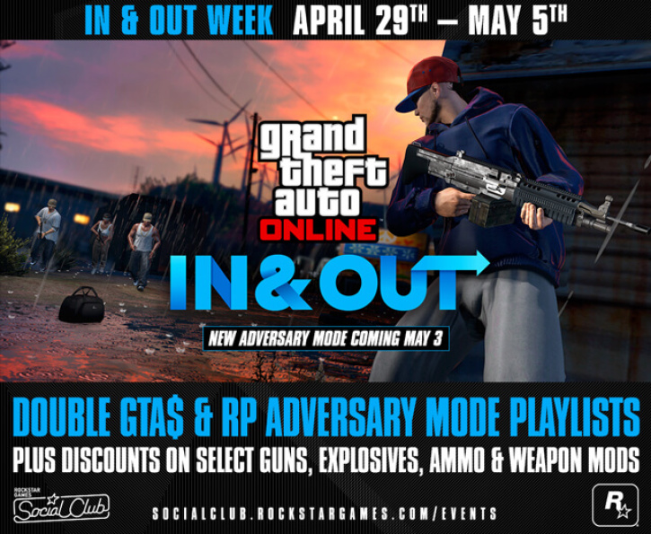 New 'GTA Online' Adversary Mode 'In and Out' Goes Live on Tuesday