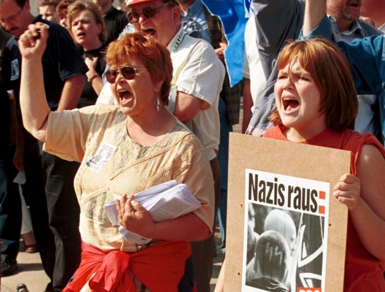 Anti-Nazi protesters