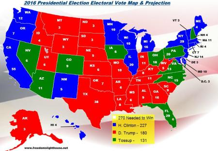 2016 Electoral College Map Projections for the Presidential ...