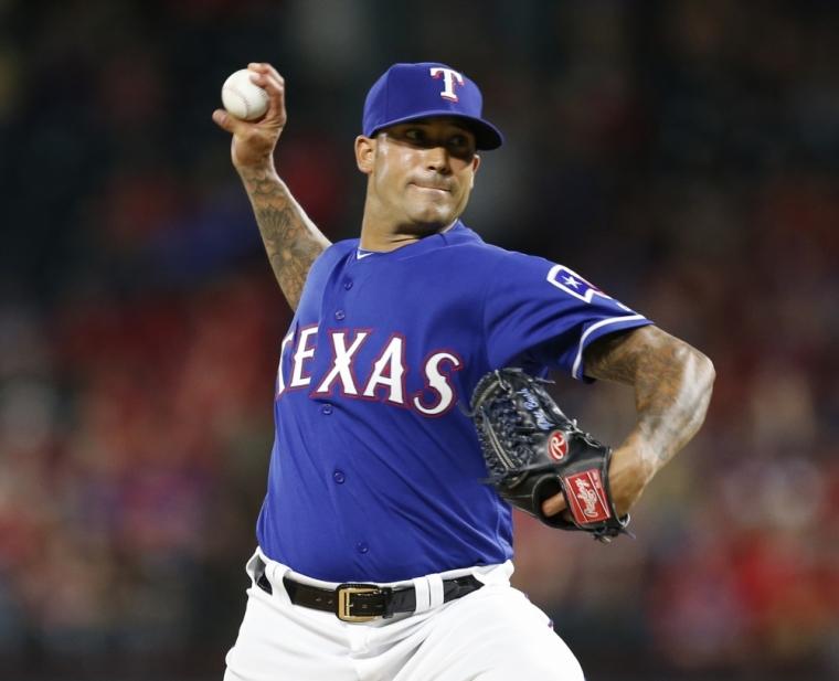 Texas Rangers relief pitcher Matt Bush