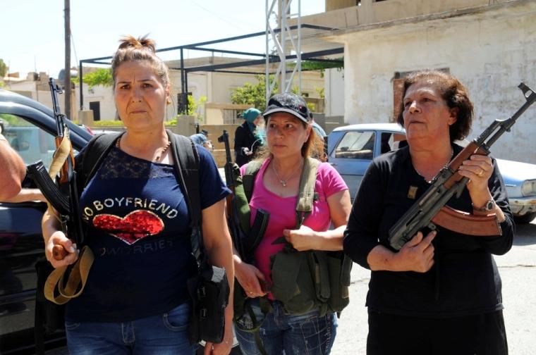 Christian women in Qaa