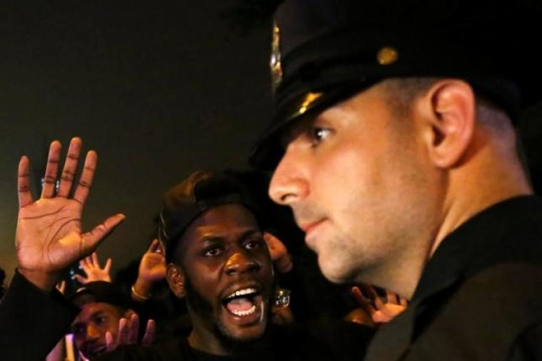 New York protester against police