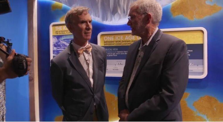 Bill Nye (L) and Ken Ham (R)