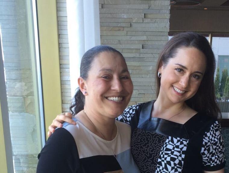 Sarah Mills and Gloria Torres